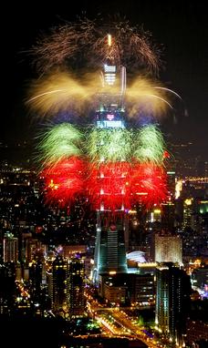 taipei101 fireworks